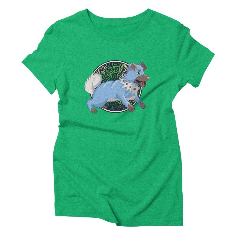 SHINY ROCK PUPPER Women's Triblend T-Shirt by greenlambart's Artist Shop
