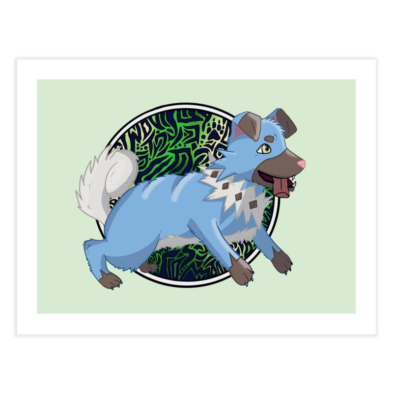 SHINY ROCK PUPPER Home Fine Art Print by greenlambart's Artist Shop
