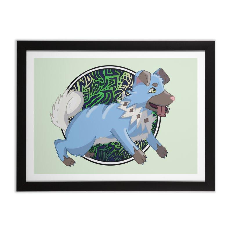 SHINY ROCK PUPPER Home Framed Fine Art Print by greenlambart's Artist Shop