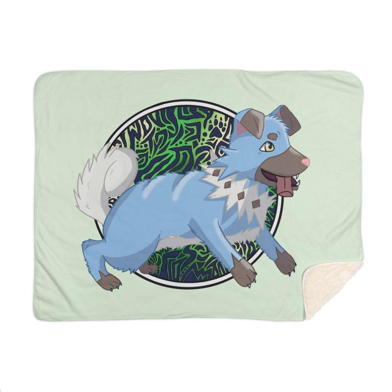 SHINY ROCK PUPPER Home Blanket by greenlambart's Artist Shop
