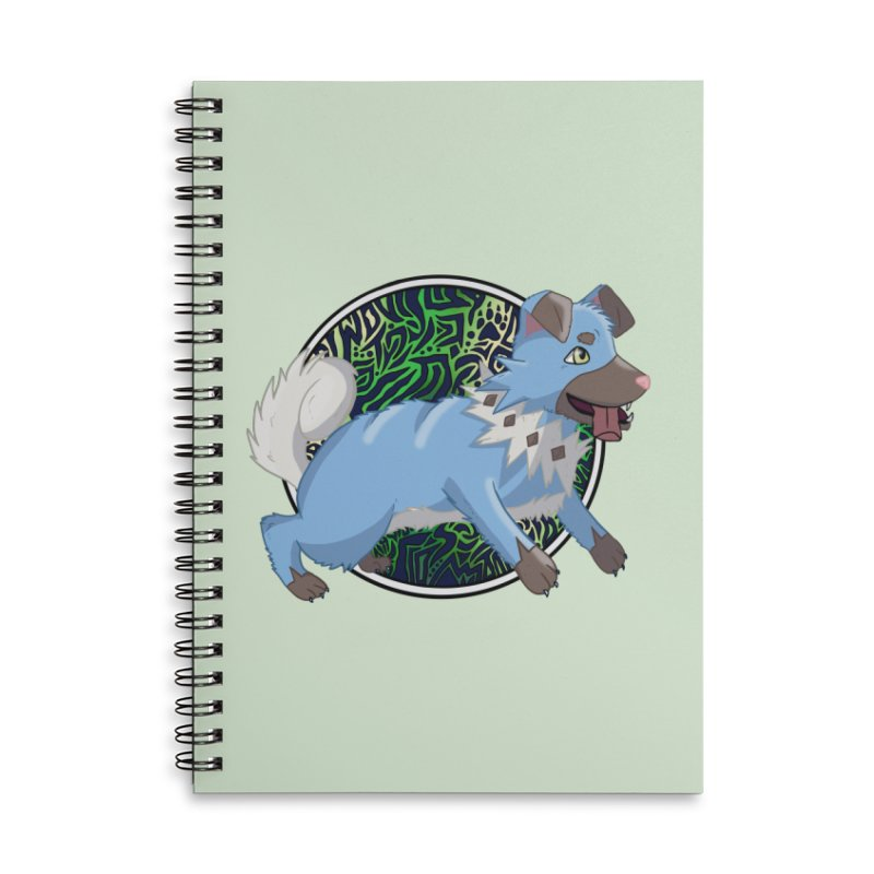 SHINY ROCK PUPPER Accessories Lined Spiral Notebook by greenlambart's Artist Shop