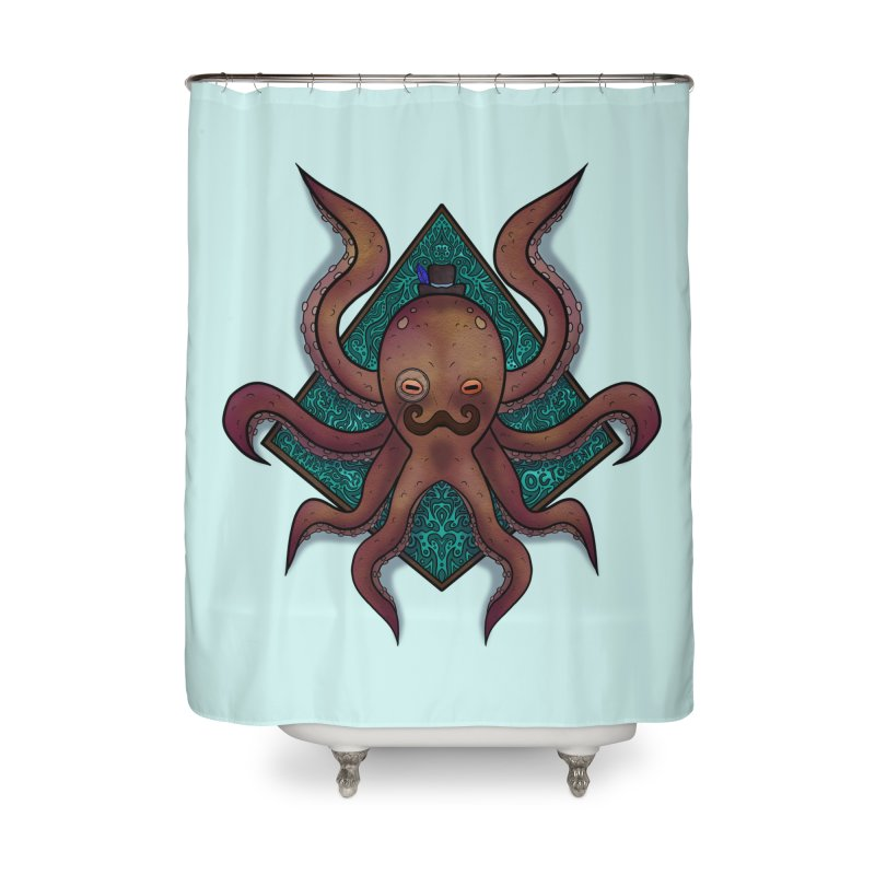 OCTOGENT Home Shower Curtain by greenlambart's Artist Shop