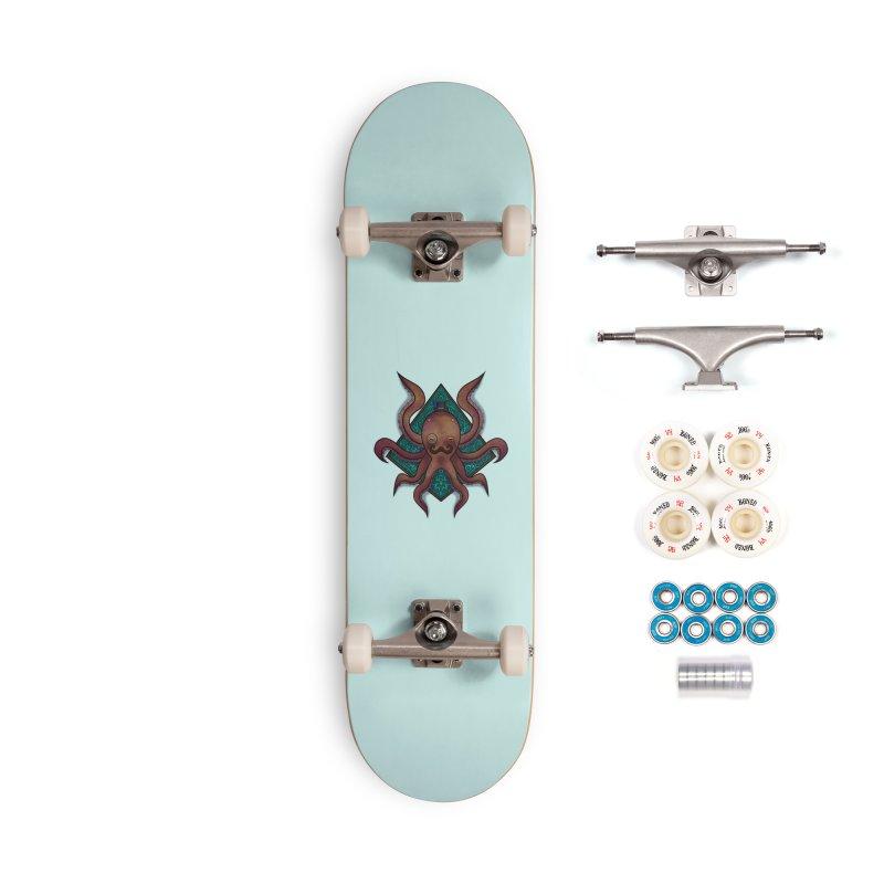 OCTOGENT Accessories Complete - Premium Skateboard by greenlambart's Artist Shop