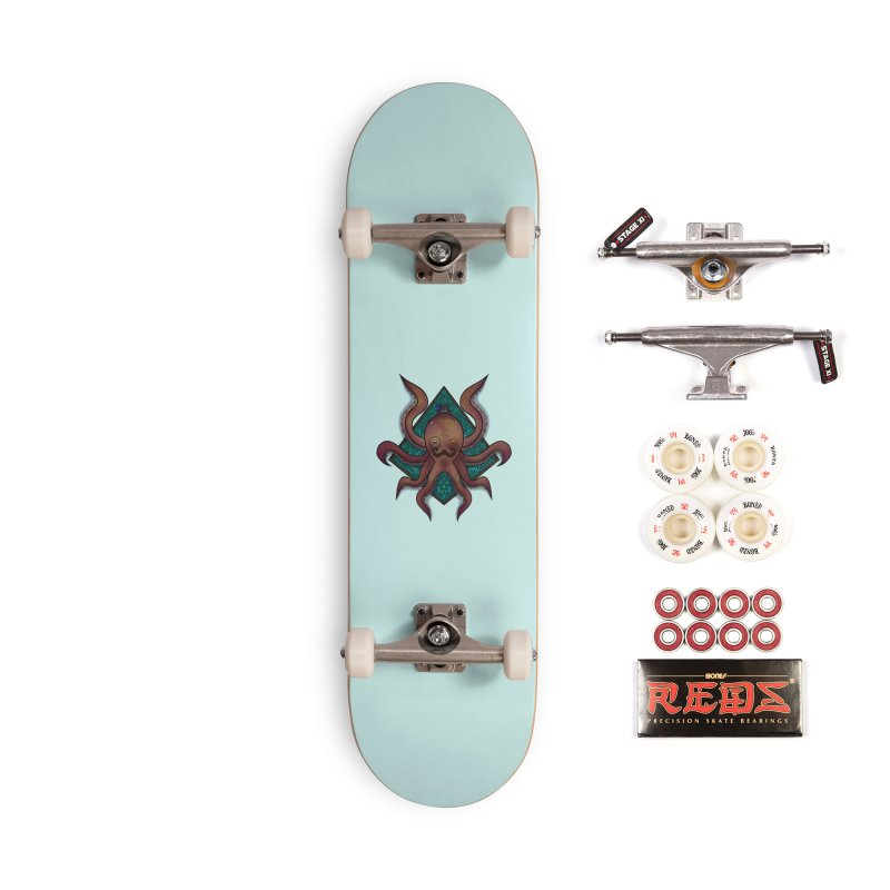 OCTOGENT Accessories Complete - Pro Skateboard by greenlambart's Artist Shop