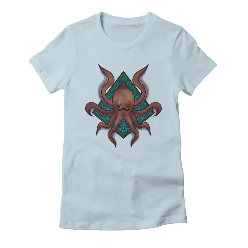 OCTOGENT Women's Fitted T-Shirt by greenlambart's Artist Shop