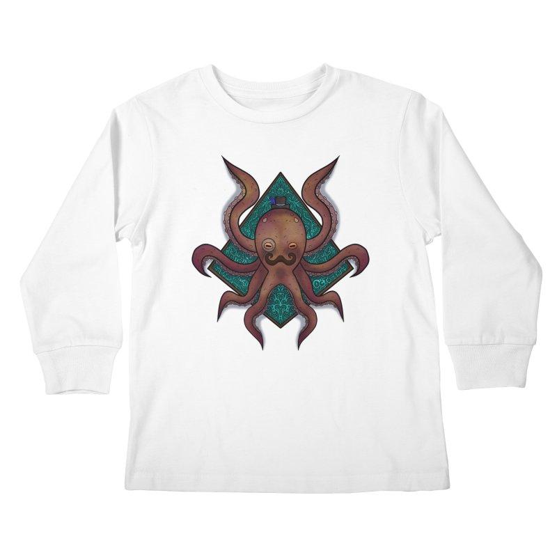 OCTOGENT Kids Longsleeve T-Shirt by greenlambart's Artist Shop