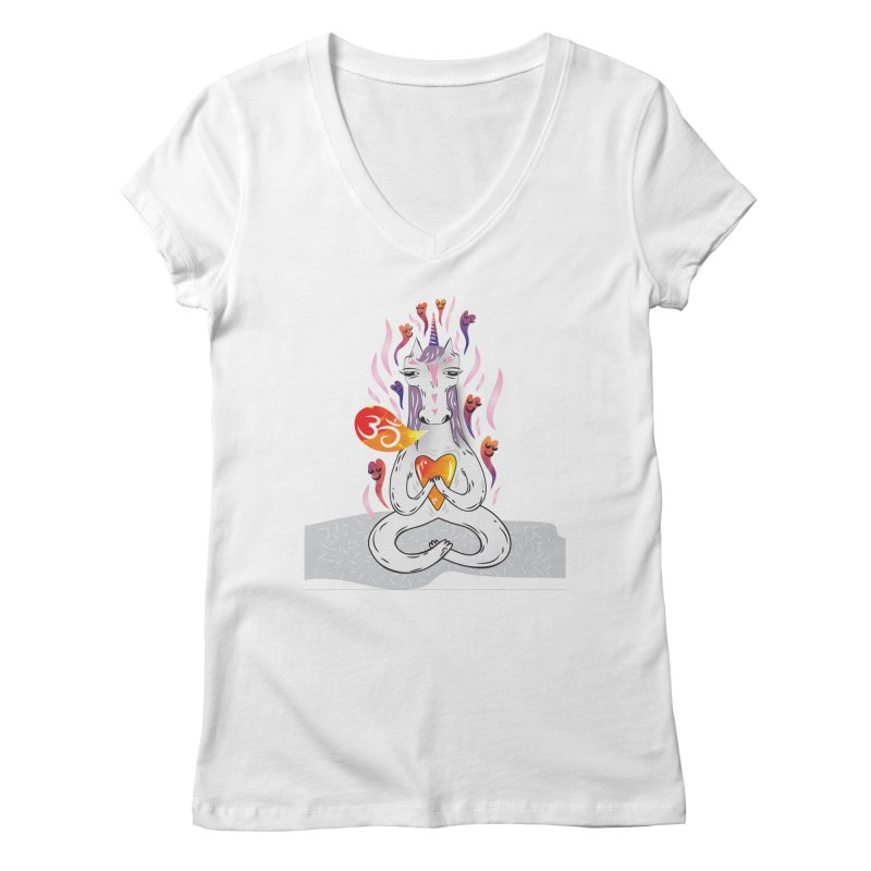 cloudy's world Women's V-Neck by greenmorning's Artist Shop