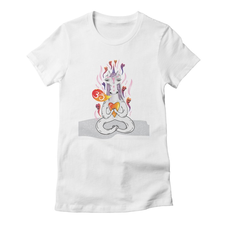 cloudy's world Women's Fitted T-Shirt by greenmorning's Artist Shop