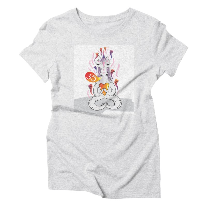 cloudy's world Women's Triblend T-shirt by greenmorning's Artist Shop