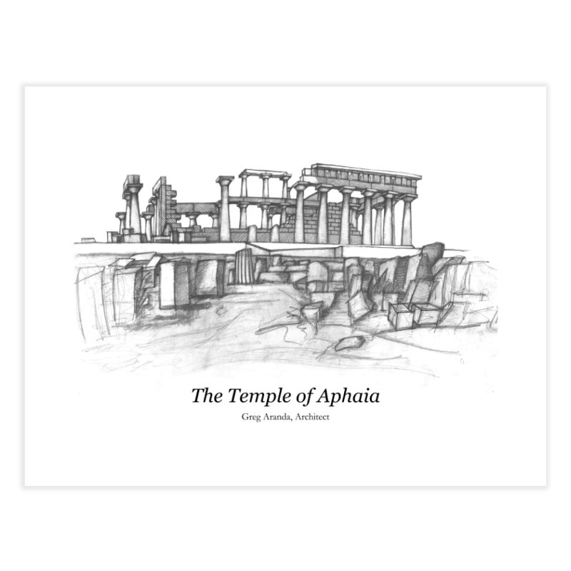 The Temple of Aphaia - Fine Art Print Home Fine Art Print by Greg Aranda's Shop