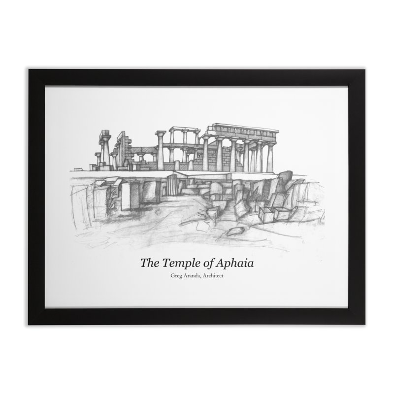 The Temple of Aphaia - Fine Art Print in Framed Fine Art Print Black by Greg Aranda's Shop