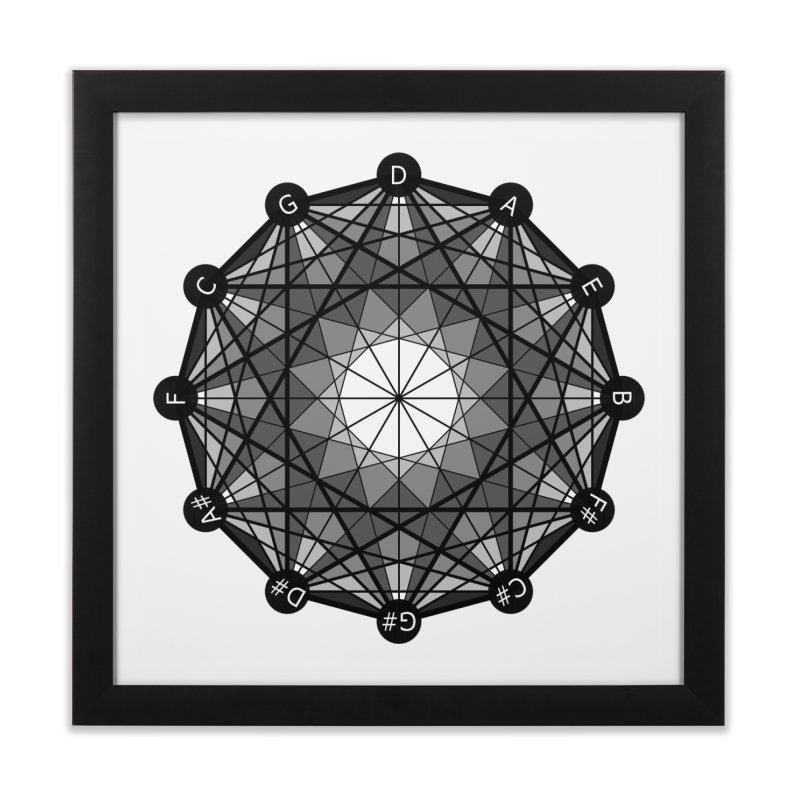 Geometry and The Circle of Fifths - Fine Art Print in Framed Fine Art Print Black by Greg Aranda's Shop