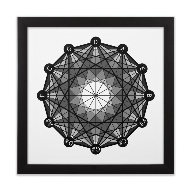 Geometry and The Circle of Fifths - Fine Art Print in Framed Fine Art Print Black by Greg Aranda's Shop