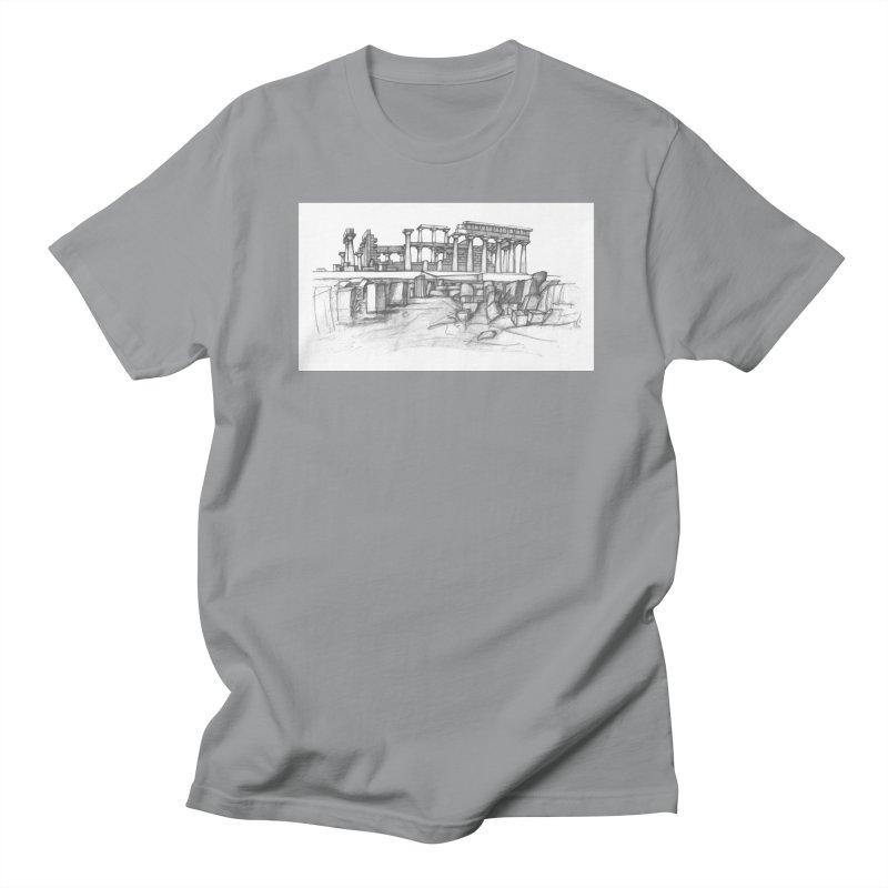 The Temple of Aphaia - T-Shirt Men's Regular T-Shirt by Greg Aranda's Shop