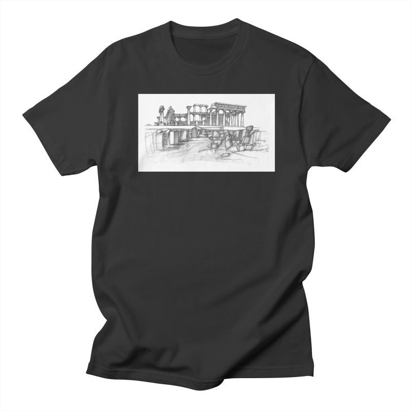 The Temple of Aphaia - T-Shirt Men's Regular T-Shirt by Greg Aranda's Shop