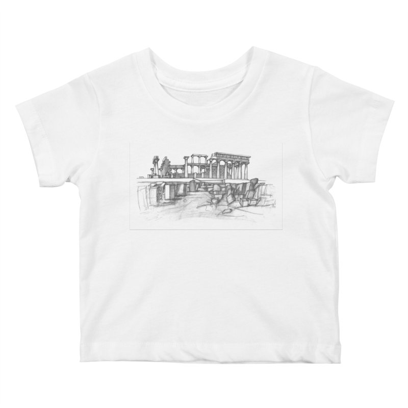 The Temple of Aphaia - T-Shirt Kids Baby T-Shirt by Greg Aranda's Shop