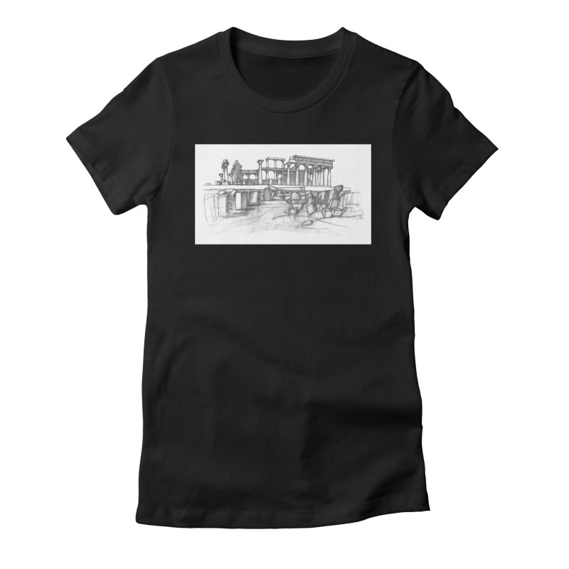 The Temple of Aphaia - T-Shirt Women's Fitted T-Shirt by Greg Aranda's Shop