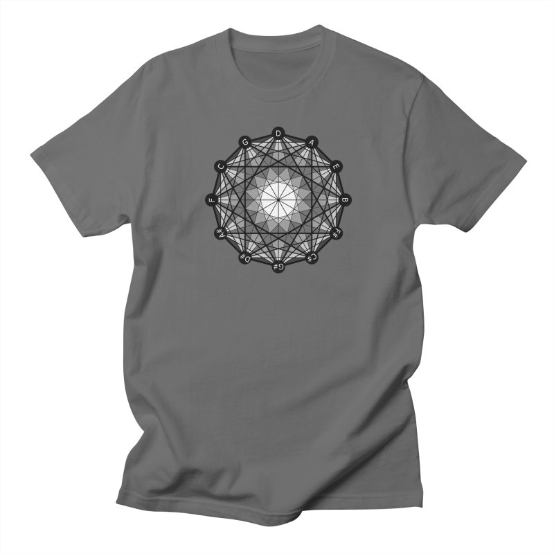 Geometry and the Circle of Fifths - T-Shirt in Men's Regular T-Shirt Asphalt by Greg Aranda's Shop