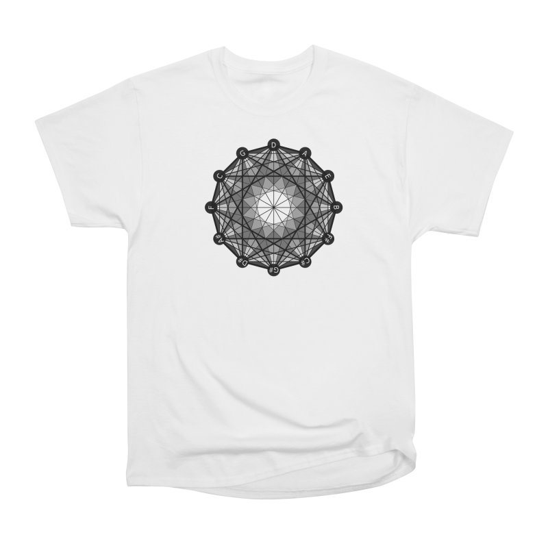 Geometry and the Circle of Fifths - T-Shirt Men's Heavyweight T-Shirt by Greg Aranda's Shop