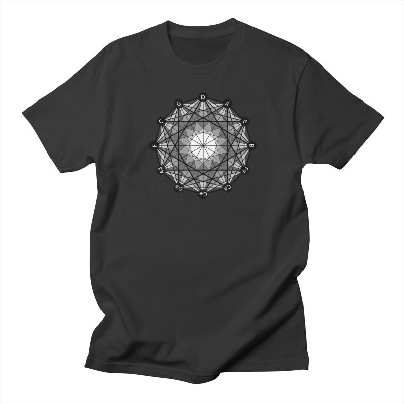 Geometry and the Circle of Fifths - T-Shirt Men's Regular T-Shirt by Greg Aranda's Shop