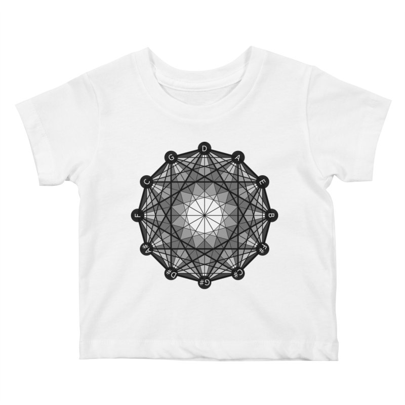 Geometry and the Circle of Fifths - T-Shirt Kids Baby T-Shirt by Greg Aranda's Shop