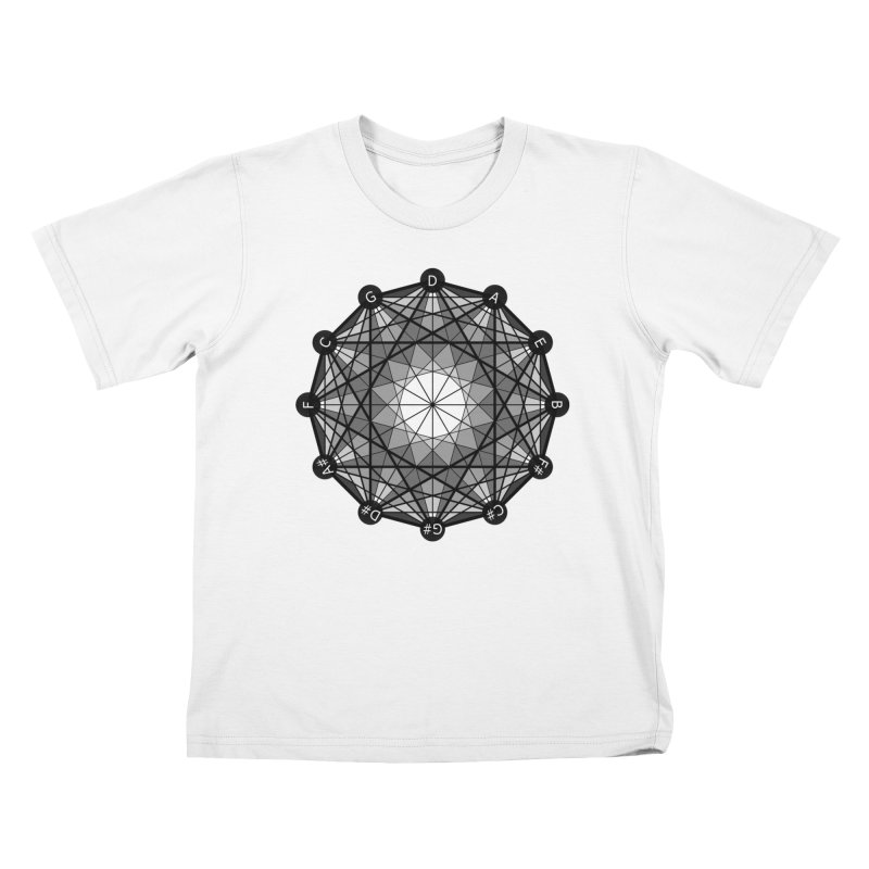 Geometry and the Circle of Fifths - T-Shirt Kids T-Shirt by Greg Aranda's Shop
