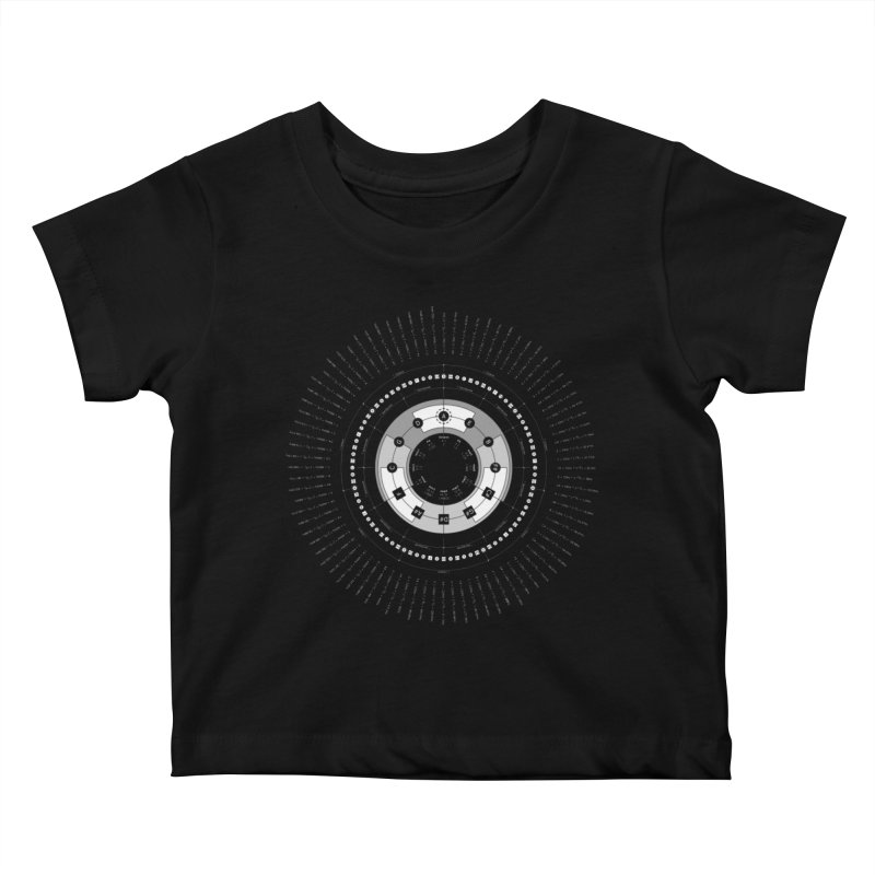 The Circle of Fifths - Black T-Shirt Kids Baby T-Shirt by Greg Aranda's Shop