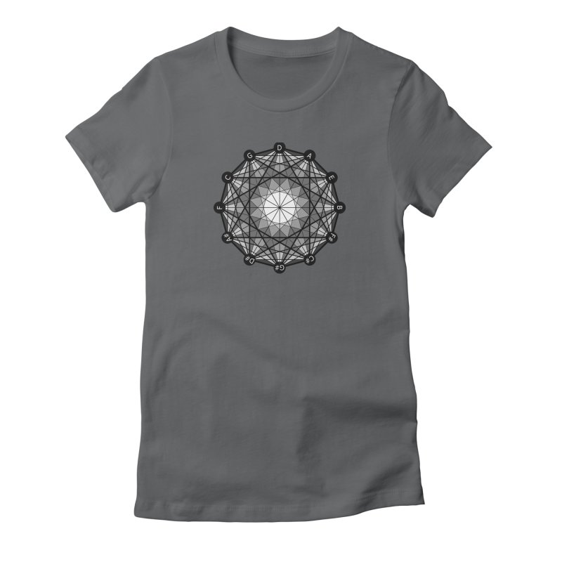 Geometry and the Circle of Fifths - Women's Fitted T-Shirt in Women's Fitted T-Shirt Heavy Metal by Greg Aranda's Shop
