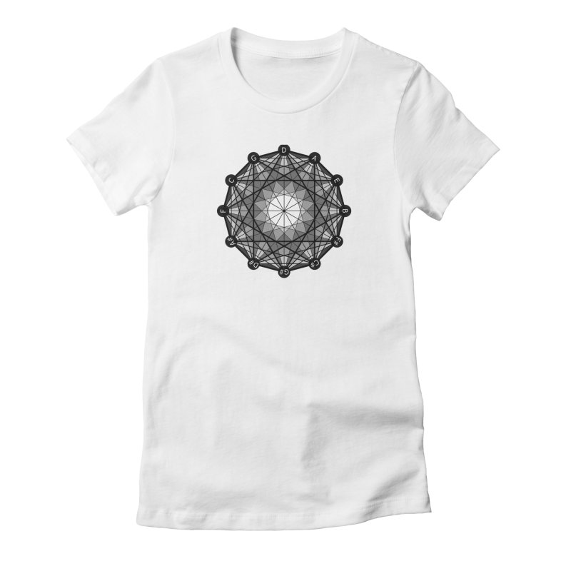 Circle of Fifths Geometry - Women's Fitted T-Shirt Women's Fitted T-Shirt by Greg Aranda's Shop