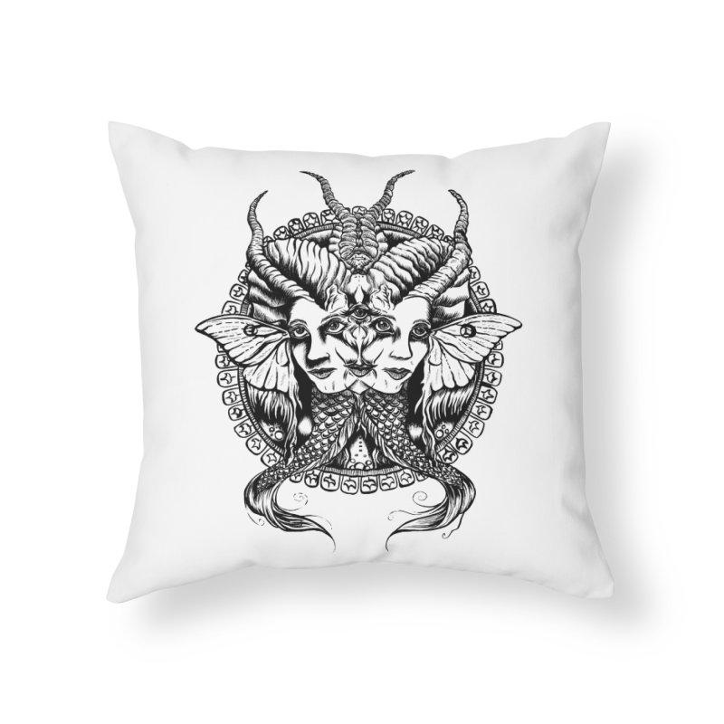 Sirens Home Throw Pillow by Gregery Miller's Art Shop