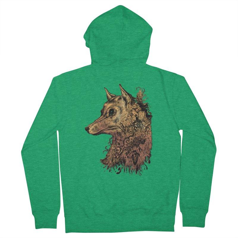 Wolf Spirit Men's Zip-Up Hoody by Gregery Miller's Art Shop