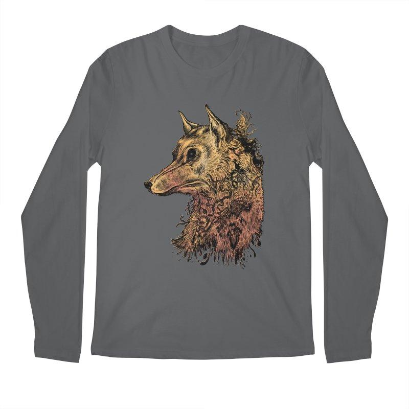 Wolf Spirit Men's Longsleeve T-Shirt by Gregery Miller's Art Shop