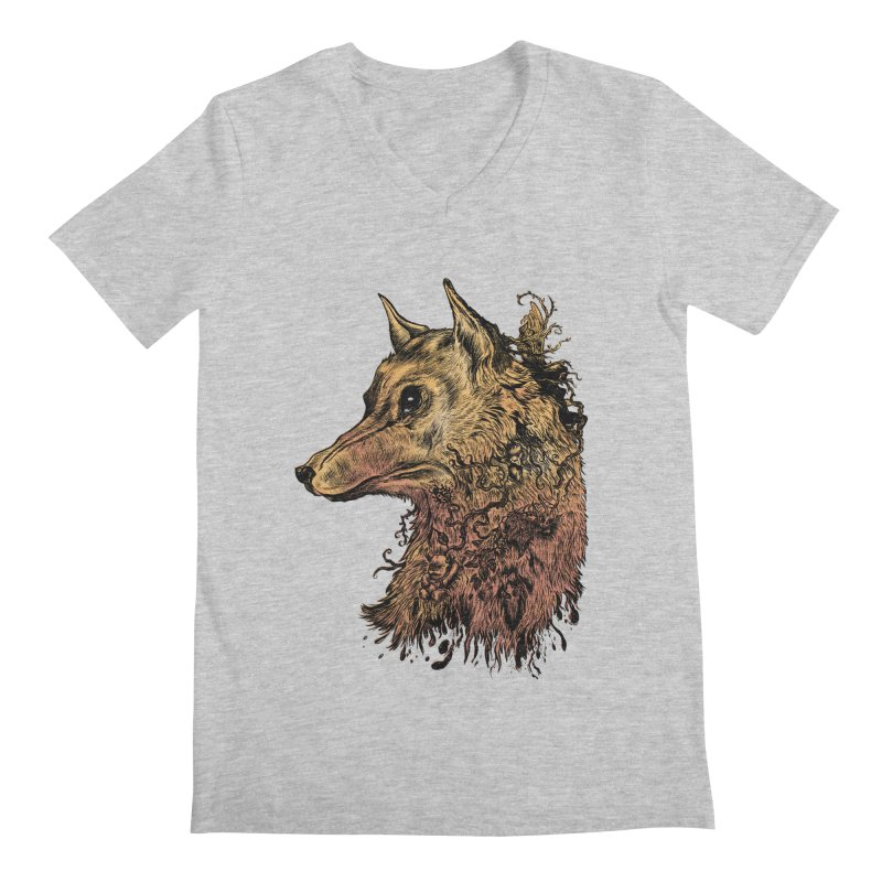 Wolf Spirit Men's V-Neck by Gregery Miller's Art Shop