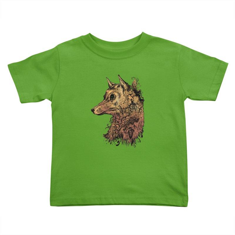 Wolf Spirit Kids Toddler T-Shirt by Gregery Miller's Art Shop