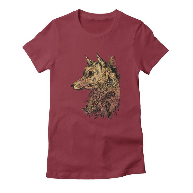 Wolf Spirit Women's T-Shirt by Gregery Miller's Art Shop