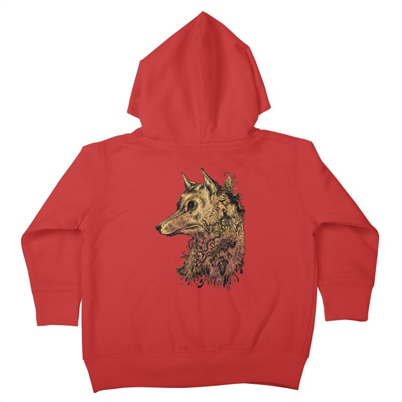 Wolf Spirit Kids Toddler Zip-Up Hoody by Gregery Miller's Art Shop
