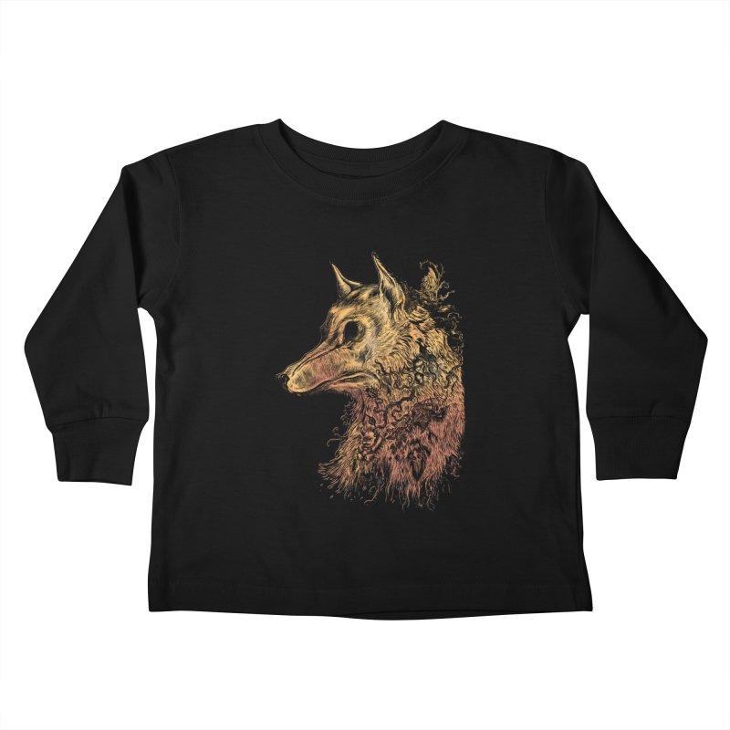 Wolf Spirit Kids Toddler Longsleeve T-Shirt by Gregery Miller's Art Shop