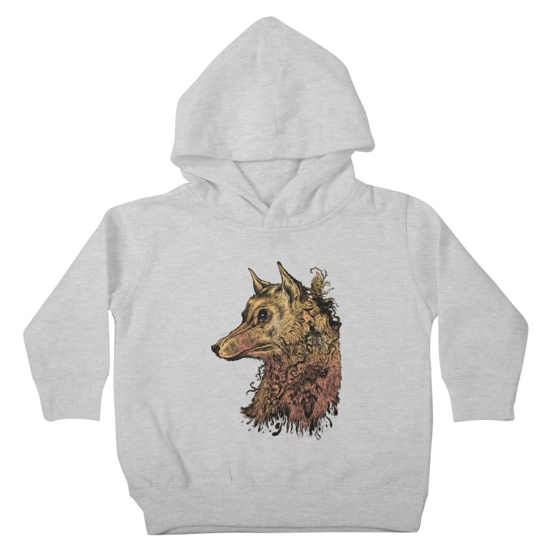 Wolf Spirit Kids Toddler Pullover Hoody by Gregery Miller's Art Shop