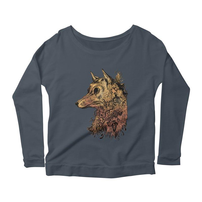 Wolf Spirit Women's Longsleeve T-Shirt by Gregery Miller's Art Shop