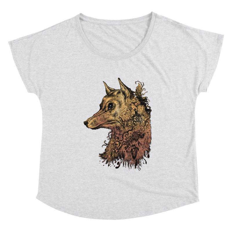 Wolf Spirit Women's Scoop Neck by Gregery Miller's Art Shop