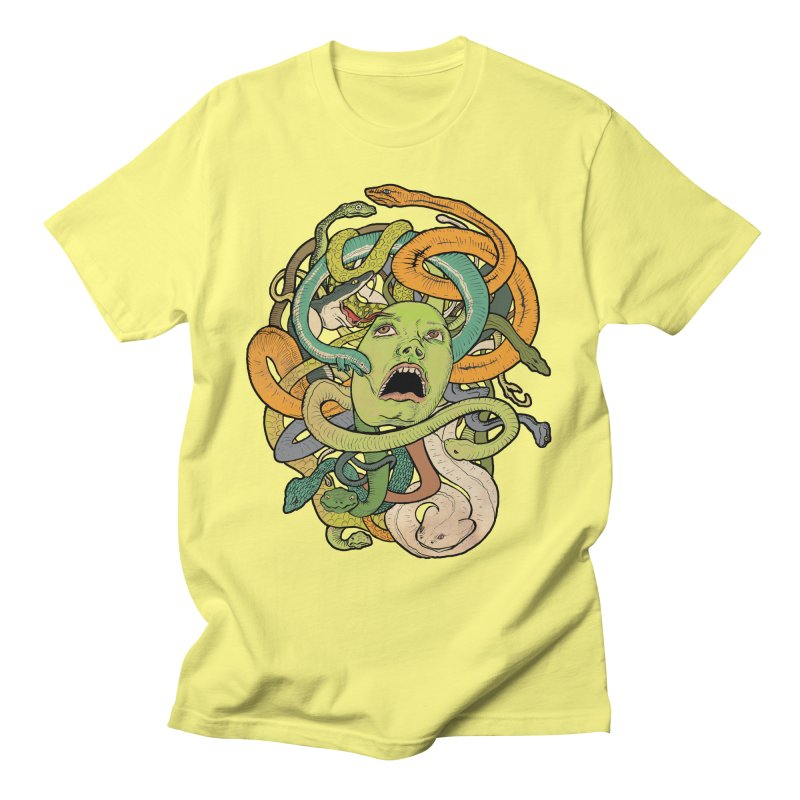Medusa Men's T-Shirt by Gregery Miller's Art Shop