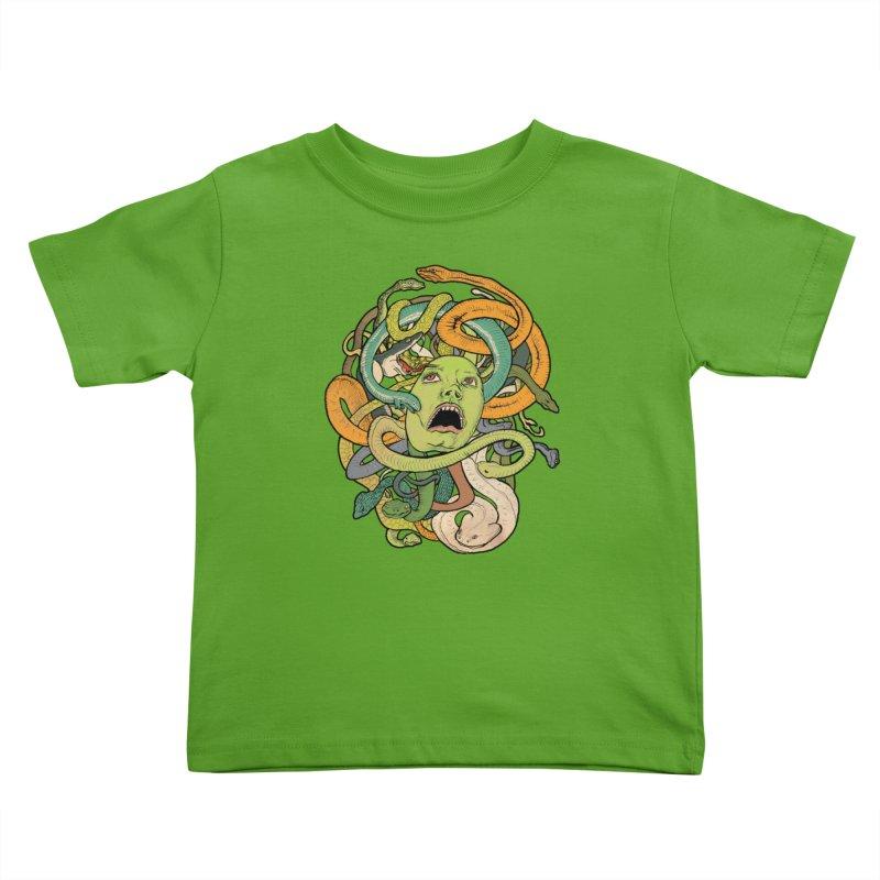 Medusa Kids Toddler T-Shirt by Gregery Miller's Art Shop