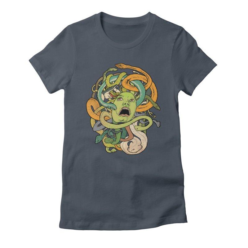 Medusa Women's T-Shirt by Gregery Miller's Art Shop