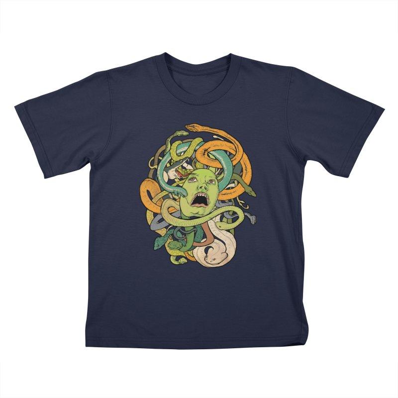 Medusa Kids T-Shirt by Gregery Miller's Art Shop
