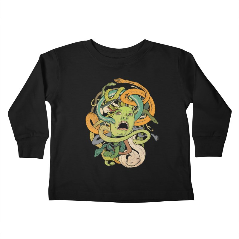 Medusa Kids Toddler Longsleeve T-Shirt by Gregery Miller's Art Shop