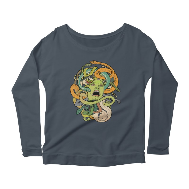 Medusa Women's Longsleeve T-Shirt by Gregery Miller's Art Shop