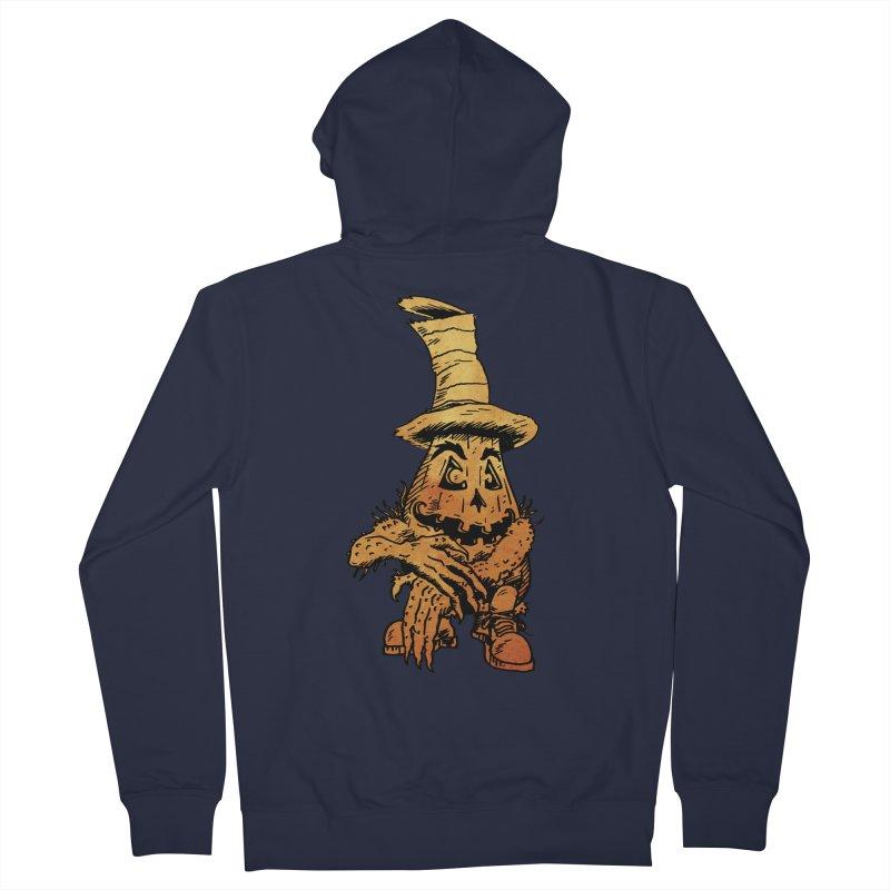 Pumpkin Head Men's Zip-Up Hoody by Gregery Miller's Art Shop