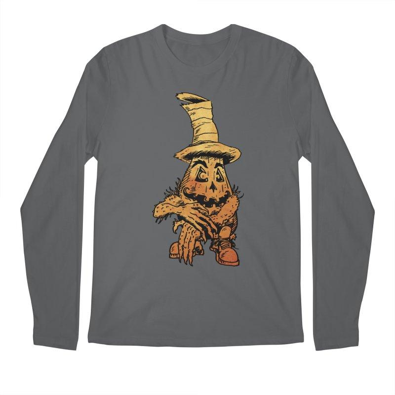 Pumpkin Head Men's Longsleeve T-Shirt by Gregery Miller's Art Shop