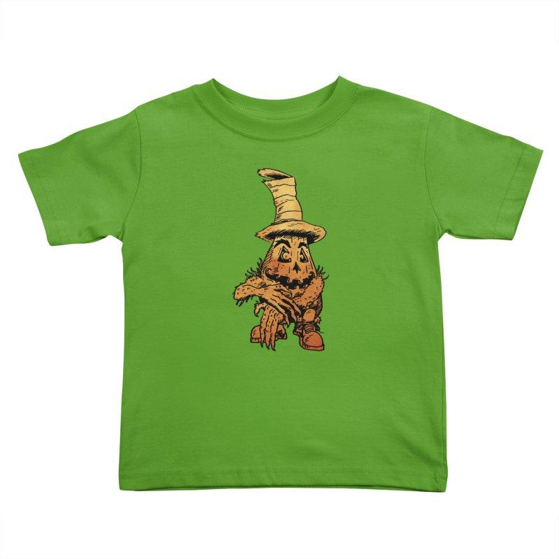 Pumpkin Head Kids Toddler T-Shirt by Gregery Miller's Art Shop