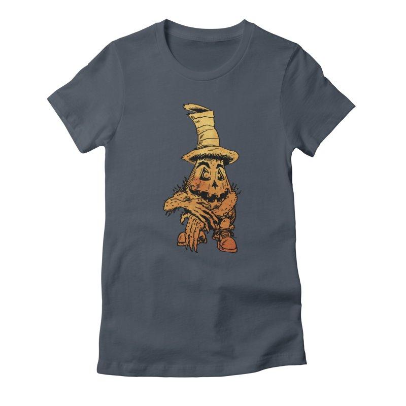 Pumpkin Head Women's T-Shirt by Gregery Miller's Art Shop
